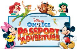 "Promotional graphic for Disney on Ice ""Passport to Adventure"" performing at the Valley View Casino Center September 25th - 29th, 2013."