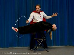 "Image of the ""Amazing Dana, Master Magician performing at a previous event. Courtesy of Amazing Dana."