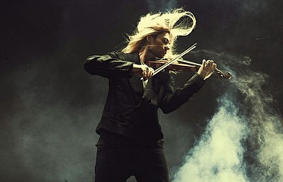 Violin virtuoso David Garrett (pictured), joined by his band and the Neue Philharmonie Frankfurt, combines different musical styles and eras. Courtesy of PBS
