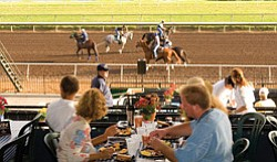 Promotional image of Daybreak at the Del Mar Racetrack every Saturday & Sunday starting July 20th.