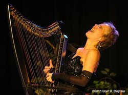 Image of Deborah Henson-Conant, who will be performing music from the harp at the Museum of Making Music.