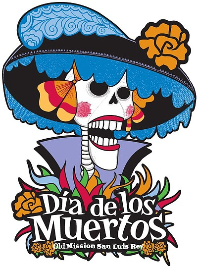 Promotional graphic for Dia de los Muertos at the Old Mis...