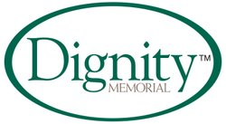 Graphic logo of Dignity Memorial, who will present a lecture at the College Avenue Center.