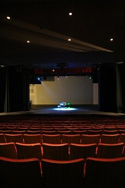 Promotional image of the Don Powell Theatre at SDSU.