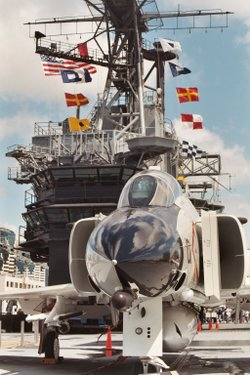 Promotional photo of the flight deck. Courtesy of USS Midway Museum