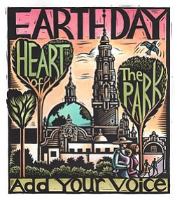 Promotional image of the EarthFair 2013 in Balboa Park.