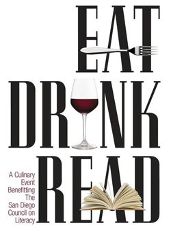 Promotional logo for Eat. Drink. Read. on May 22nd, 2013 from 5:30 – 8:00 p.m.