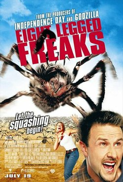 "Promotional graphic for the film, ""Eight Legged Freaks"""