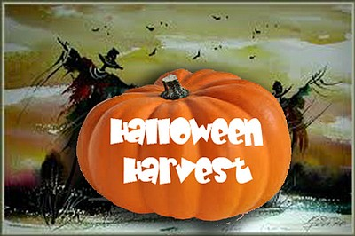 Promotional graphic for the Halloween Harvest At El Cajon Farmers' Market on October 31st, 2013.