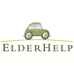 Graphic logo for ElderHelp. Elderhelp HomeShare Presentation is on September 19, 2013.