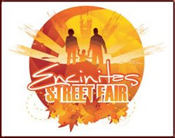 Promotional image of the Encinitas Street Fair on Saturday, April 27 & Sunday, April 28 from 9am-5pm