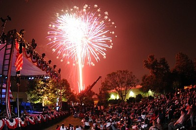 Promotional graphic for Escondido's 50th Annual Independence Day Celebration & Fireworks Spectacular. Courtesy of California Center for the Arts: Escondido.