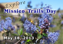 Promotional image of Explore Mission Trails Day on May 18, 2013.