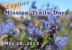 Promotional image of Explore Mission Trails Day on May 18...
