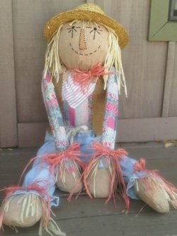 Promotional photo of a scarecrow in participation of Fallbrook Scarecrow Days October 1-31, 2013.