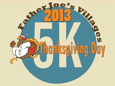 Promotional graphic for the Father Joe's Villages Thanksg...