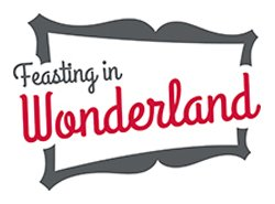 "Promotional graphic for ""Feasting in Wonderland"" at the New Children's Museum. Courtesy of the New Children's Museum."