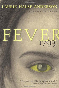 "Book cover of ""Fever 1973"" by Laurie Halse Anderson coming to the University Branch Library on June 25, 2013."
