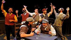 Promotional image of Lamb's Players Theatre's  Fiddler On The Roof playing January 10th - February 2nd, 2014. Courtesy image of Lamb's Players Theatre