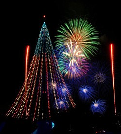 Promotional photo of firework display at Sea World San Diego.