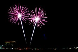 Photo from a Fireworks Show presented by PYRO Spectaculars. Courtesy of PYRO Spectaculars.
