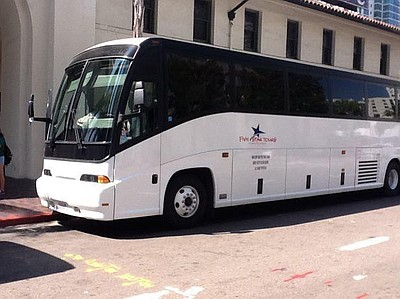 Image of a charter bus for the Five Stars Tours & Charter...