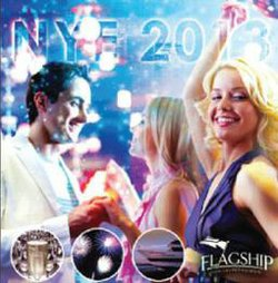 Promotional graphic for Flagship Cruises & Events New Year's Eve Party 2014. Courtesy of Flagship Cruises & Events.
