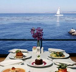 A scenic view of the ocean from your table on a Flagship Cruise. Courtesy of Flagship Cruises & Events