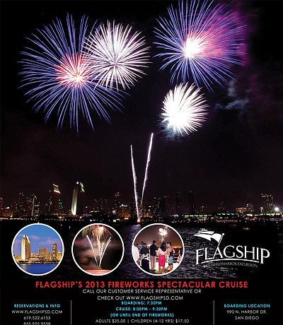 Promotional photo for Flagship's Fireworks Spectacular Cruise on July 4th, 2013. Courtesy of Flagship Cruises & Events.