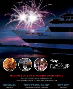 Promotional graphic for Flagship's Star Spangled 4th of July Dinner Cruise. Courtesy of Flagship Cruises & Events.