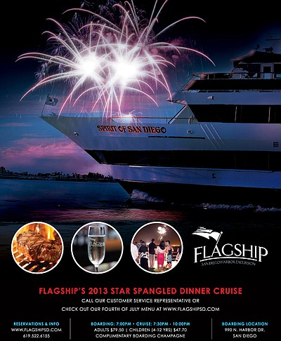 Promotional graphic for Flagship's Star Spangled 4th of J...