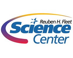 Graphic logo for the Reuben H. Fleet Science Center.