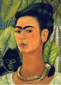 Image of a painted portrait of Frida Kahlo. The exhibit has been extended to March 9, 2014.