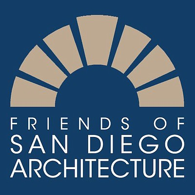 Graphic logo for Friends of San Diego Architecture.