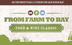 Promotional graphic for Living Coast Discovery Center's From Farm To Bay Food & Wine Classic on August 3rd, 2013. Courtesy image of Living Coast Discovery Center.