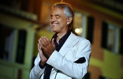 Promotional photo: International superstar Andrea Bocelli delightS fans with a new concert of classical favorites, pop standards and Brazilian jazz, filmed in the breathtaking coastal setting of Portofino, Italy. Courtesy of Giovanni De Sandre