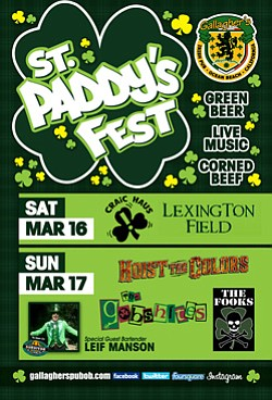 Promotional flyer for St. Paddy's Fest at Gallagher's Iri...