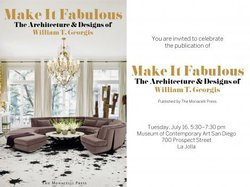 """Promotional image for the """"Make It Fabulous"""" book signing with William T. Georgis."""