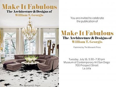"Promotional image for the ""Make It Fabulous"" book signing with William T. Georgis."