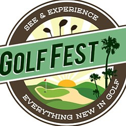 Graphic logo for Golf Fest at Oaks North Golf Course on March 15 & 16, 2013.