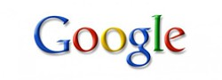 Graphic logo for Google.