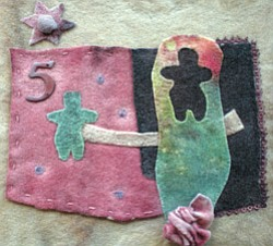 Promotional image of a felt collage made by Kai Davis for...