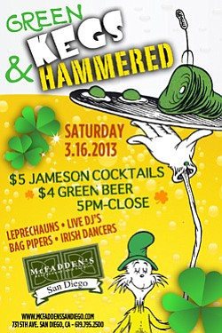 Promotional photo of Green Kegs & Hammered at McFadden's.