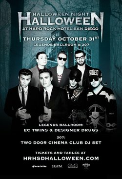 Promotional graphic for Halloween Night At Hard Rock Hotel San Diego on Thursday, October 31, 2013 at 9 p.m. Courtesy of Hard Rock Hotel San Diego