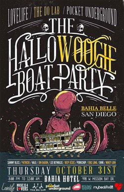 Promotional graphic for The HalloWoogie Boat Party aboard the Bahia Belle. Courtesy photo of The Do LaB.