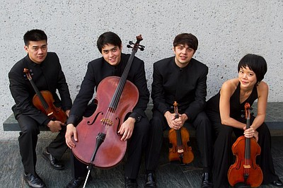 Image of the Hausmann Quartet, who will be performing with Ann Moss on October 6th, 2013.