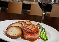 Promotional photo of an entree at Hilton Carlsbad Oceanfront Resort & Spa. Courtesy of Hilton Carlsbad Oceanfront Resort & Spa.