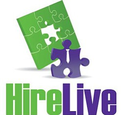Graphic logo for HireLive.