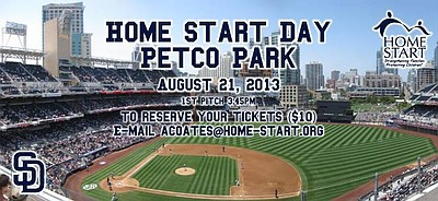 Promotional graphic for the Home Start Day At Petco Park on August 21st, 2013 for the Padres Vs. Pittsburgh Pirates Game.