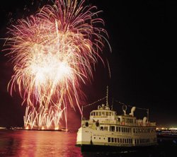 Promotional photo of 4th of July Fireworks aboard the Hornblower. Courtesy photo of Hornblower Cruises and Events.